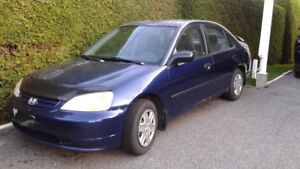 HONDA CIVIC 2003 Bonne condition, NÉGOCIABLE