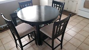 Pub height dining room set