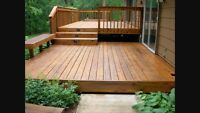 Deck maintenance and levelling services for you!!
