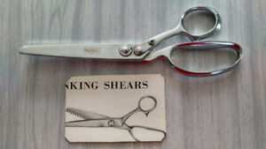 "Vintage Simpsons Sears 9"" Chrome Pinking Shears - Japan"