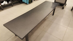 Large metal benches