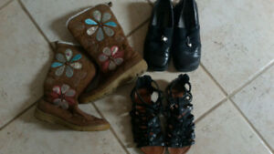 Size 2 GIRLS shoes and boots