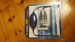 M-AUDIO  MIDISPORT 1- in/ 1- out  USB to MIDI interface