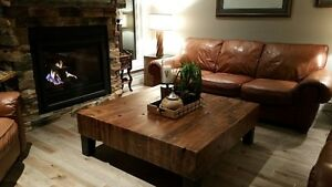 Unique and beautiful barnboard coffee tables and furniture