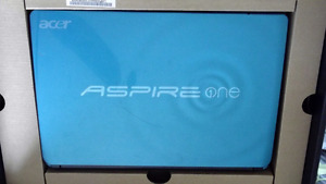 Blue Acer Laptop with case