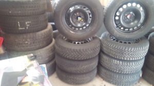 WINTER TIRES & RIMS - 215X55X16 Tires - 5X110 Bolt Pattern