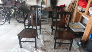 Refinished chairs.