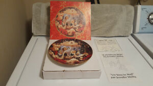 """Bradford Exchange """"A Christmas Wish"""" Plate - Designed For Sears"""
