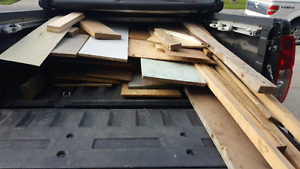 Truck full of different kinds of wood