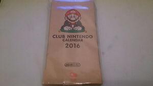 RARE 2016 CLUB NINTENDO CALENDAR