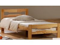 Solid wood single bed, excellent condition