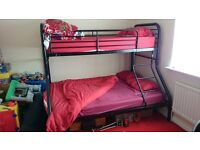 Bunk bed single top bunk and Double bottom bunk frame only