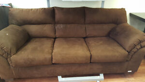 Brown Ashley pull out sofa