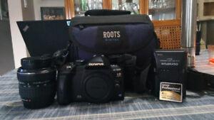 Olympus Digital Camera and Bag