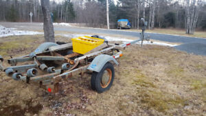 Home-made boat trailer