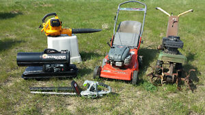 Lawn Mower, Rototillers, Ladders,Air compressor, etc.  for Sale