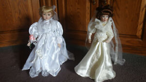 Ashton-Drake Porcelain Dolls with Certificates and Packaging