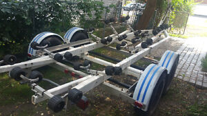 E-Z LOADER TANDEM AXLE TRAILER WITH ROLLERS