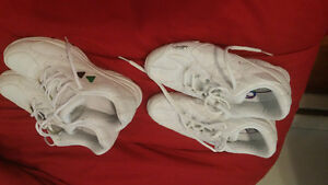 2 PAIRS KAEPA SNEAKERS, WHITE IN COLOR  ONE NEW PR.