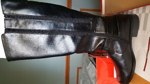 long leather shoes boot