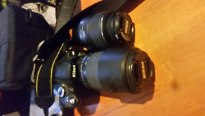 nikon d60 with 18-55 and 75-300 lenses