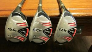 Set of RH High Loft Hybrids - 7, 8, & 9 - Firm Flex - Very Good