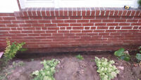 Tuck pointing ,Brick replacement foundation parging