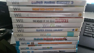 Bunch of Wii U / Wii Games and controllers -mint/great condition