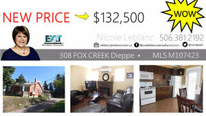 NEW PRICE → $132,500 - GREAT STARTER HOUSE!