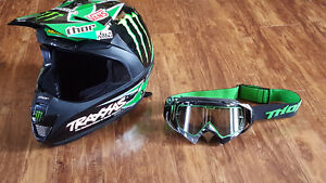 BRAND NEW THOR FORCE PRO CIRCUIT MONSTER HELMET and THOR GOGGLES