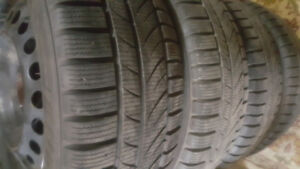 "Used Snow Tire with 16"" steel rim with tpms sensor"
