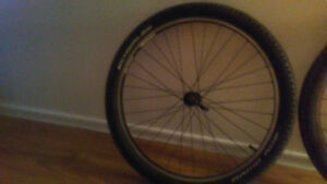 2 mountain bike rim and tire for sale very light and quick relea