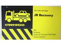 JR RECOVERY NW SCRAP CARS WANTED TOP CASH NOW