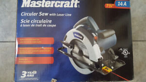Brand new, Mastercraft 14A Circular Saw with Laser