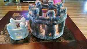 2 circle of friends candle holders  Peterborough Peterborough Area image 1