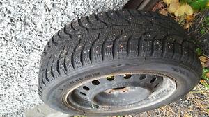 205 60 R16 studded tires with winter rims Gatineau Ottawa / Gatineau Area image 1