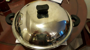 """High Quality 15.5"""" Stainless steel Wok"""