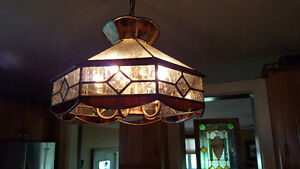 BEAUTIFUL STAINED GLASS CEILING LIGHT - REDUCED