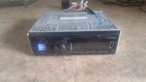 Alpine Stereo with USB and Bluetooth