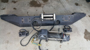 JEEP JK FRONT WINCH BUMPER AND WINCH