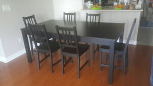 DINING SET ( with 6 chairs)