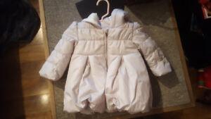 Light gray bubble coat - 18 months