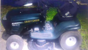 Looking for used garden tractor, bigger the better, send info