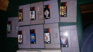 SNES system with games