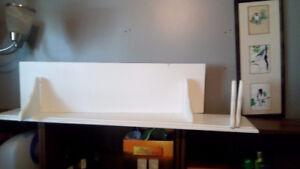 2white wall shelves in Brighton