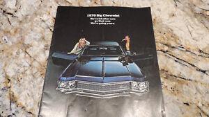1970 chevrolet big car dealer brochure