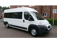PEUGEOT BOXER 435 L3H2 HDI 9 SEATER REAR RAMP WITH AIR ///////