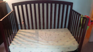 Graco crib with mattress included.
