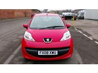 PEUGEOT 107 1.0 URBAN F.S.H BRIGHT RED £20 YEAR TAX ONLY £15 WEEK P/LOAN 2008 08
