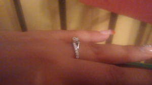 .75 center diamond 14k white gold